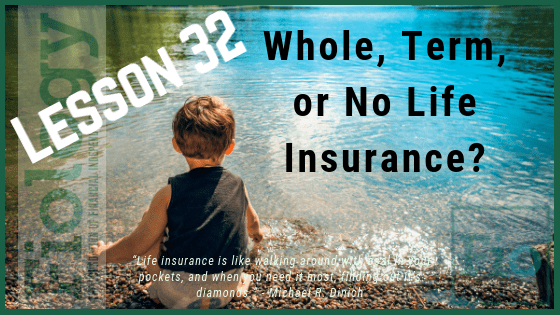 Fiology Lesson 32: Whole, Term, or No Life Insurance