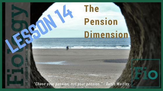 Fiology Lesson describing how pensions may or may not fit into plans for Financial Independence