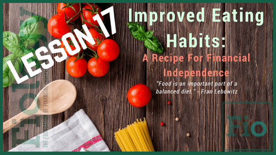 A Fiology Lesson that takes a closer look at our eating habits including meal prep.