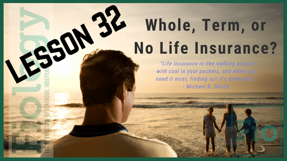 Fiology Lesson 32: Whole, Term, or No Life Insurance?