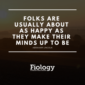 Folks are usually about as happy as they make their minds up to be
