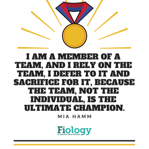 I am a member of the team, and I rely on the team