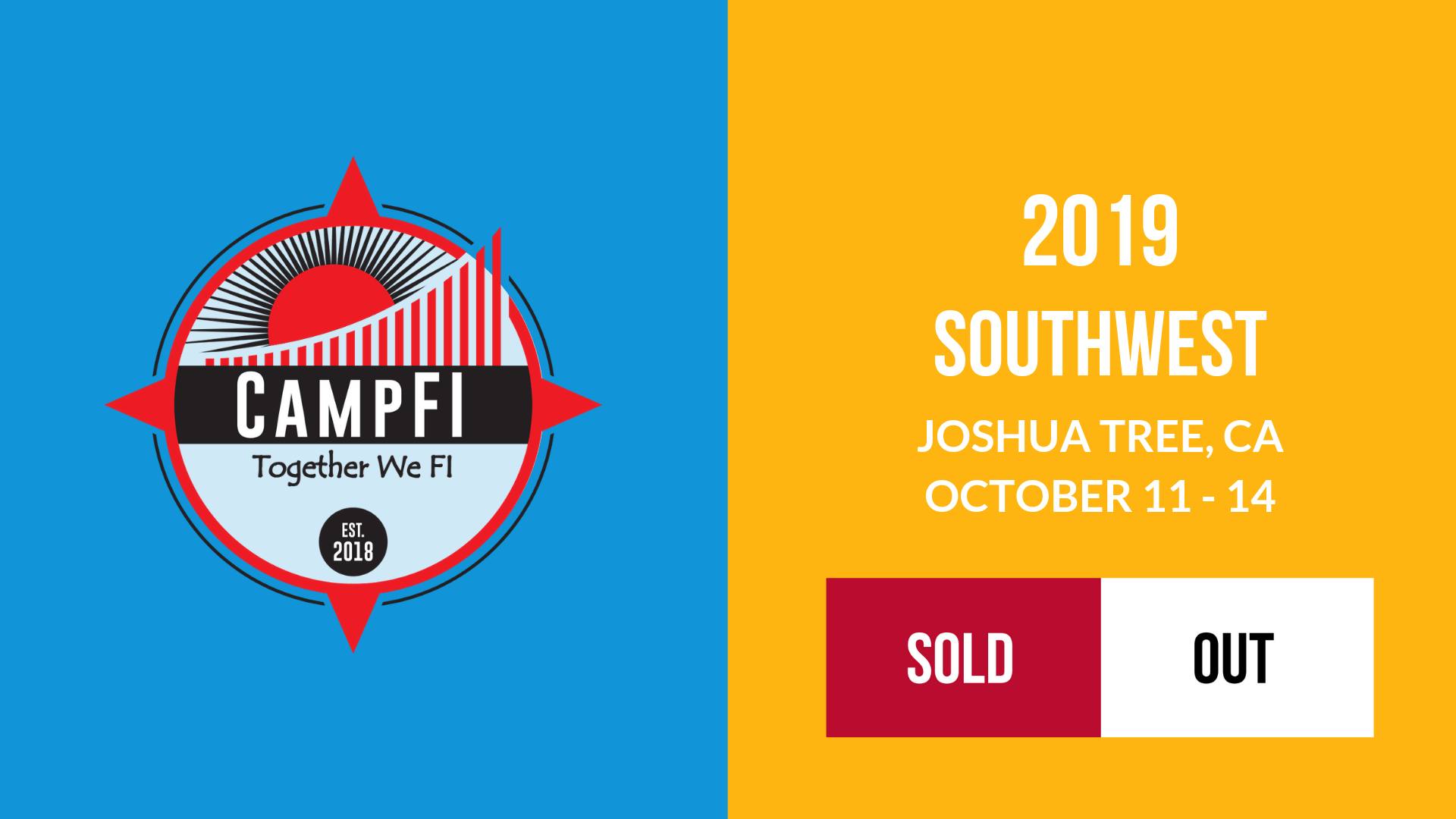CampFI Southwest 2019 Sold Out