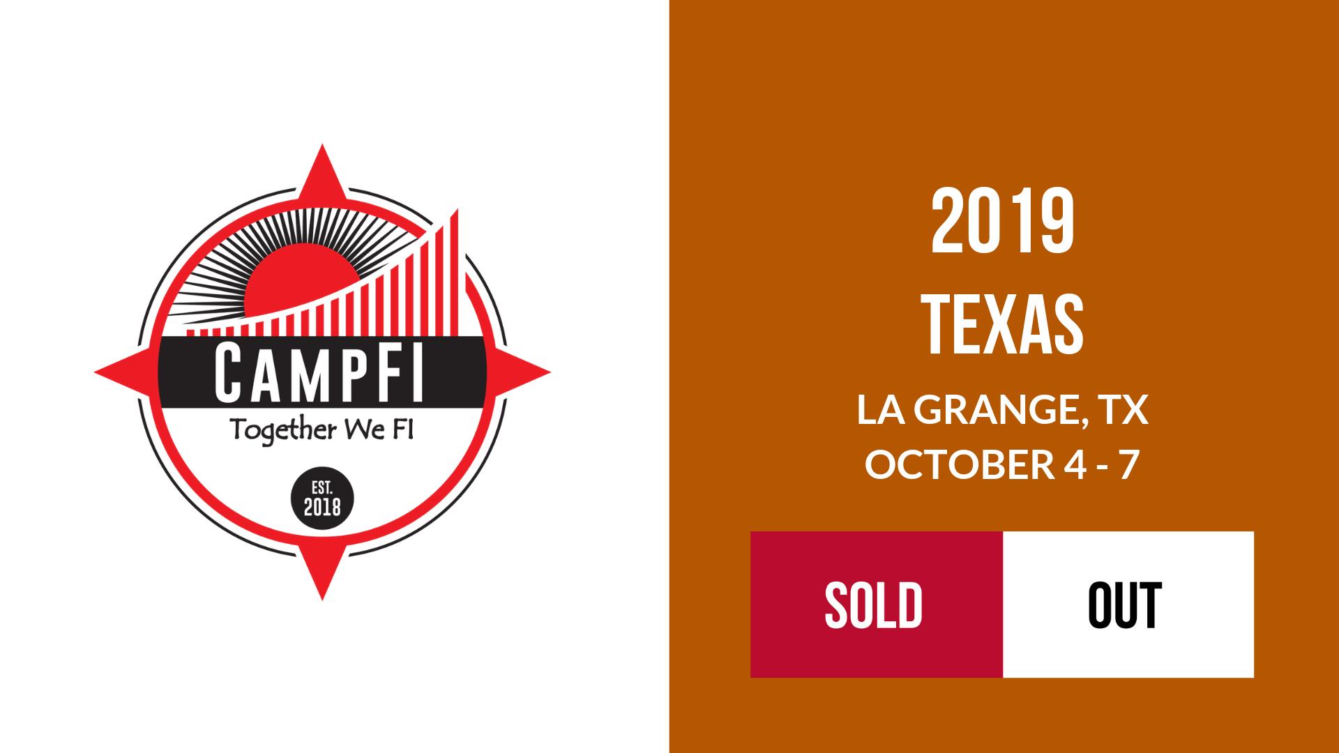 CampFI Texas 2019 Sold Out