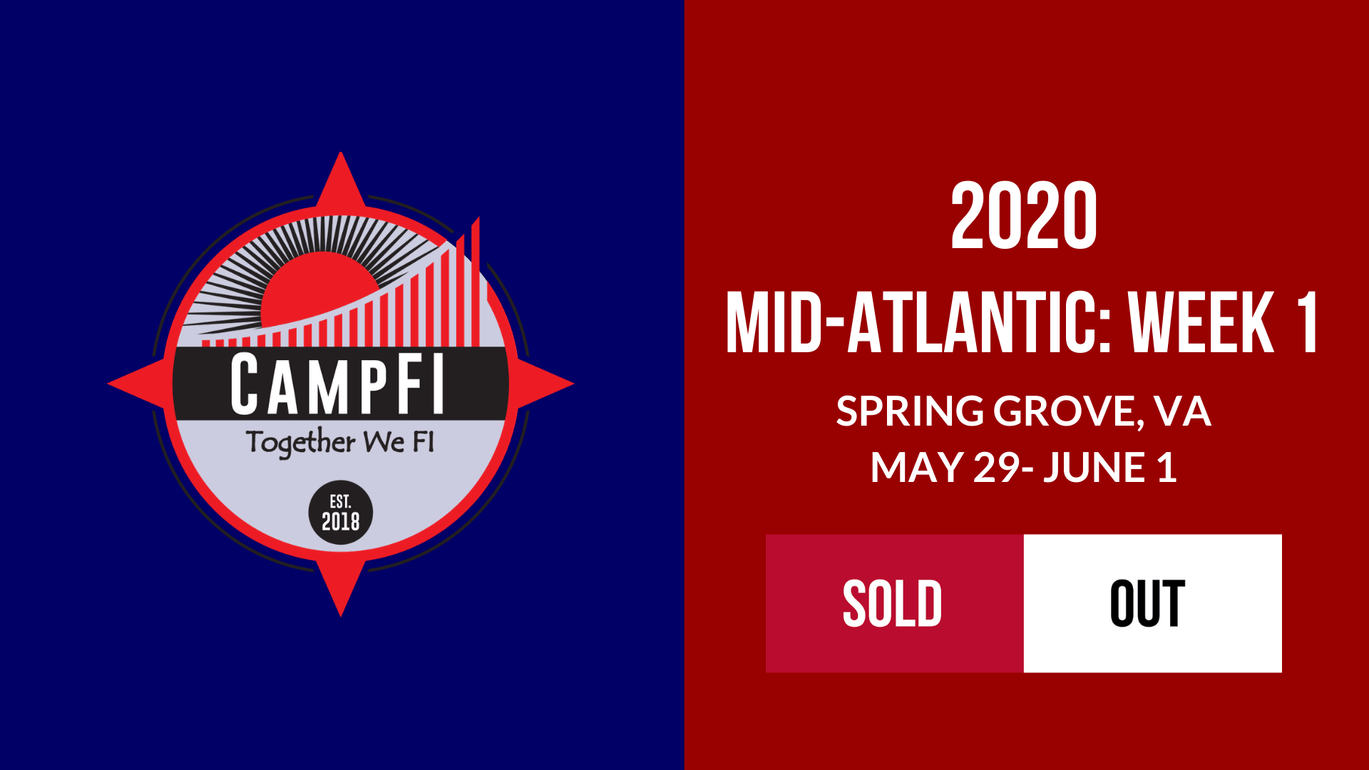 CampFI Mid-Atlantic: Week 1 - Sold Out - Fiology