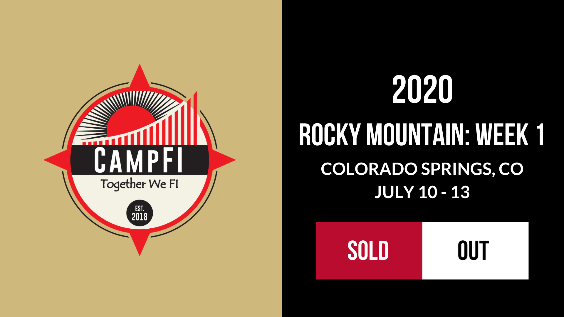 CampFI Rocky Mountain: Week 1 - Sold Out - Fiology