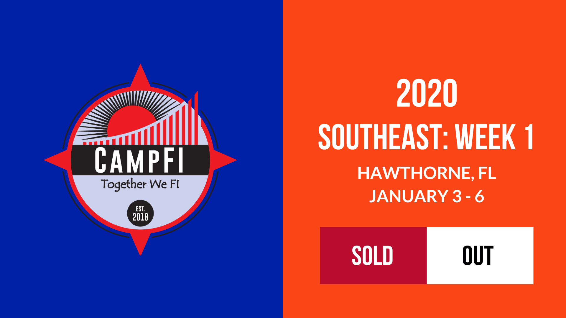 CampFI Southeast: Week 1 - Sold Out - Fiology